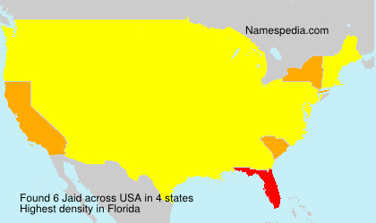 Familiennamen Jaid - USA