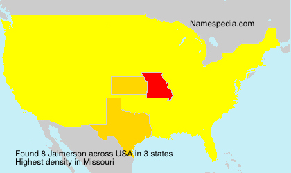 Surname Jaimerson in USA