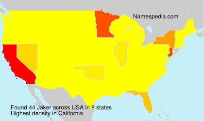 Surname Jaker in USA