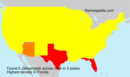 Surname Jakkamsetti in USA