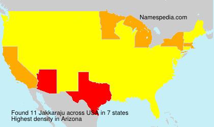 Surname Jakkaraju in USA