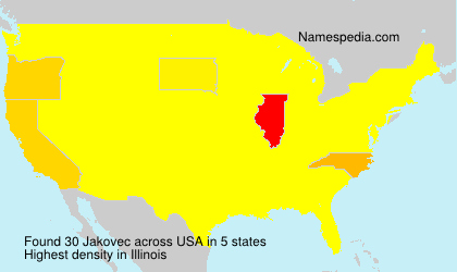 Surname Jakovec in USA