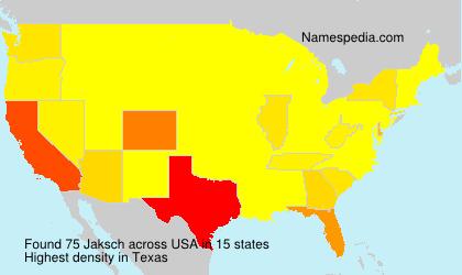 Familiennamen Jaksch - USA