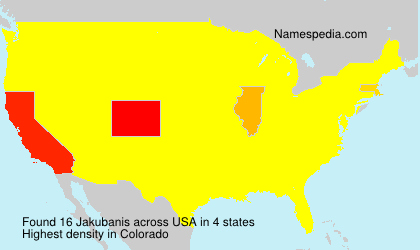 Surname Jakubanis in USA