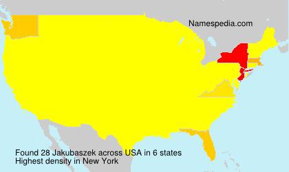 Surname Jakubaszek in USA