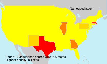 Surname Jakubenas in USA