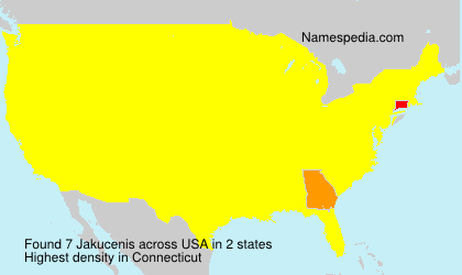 Surname Jakucenis in USA