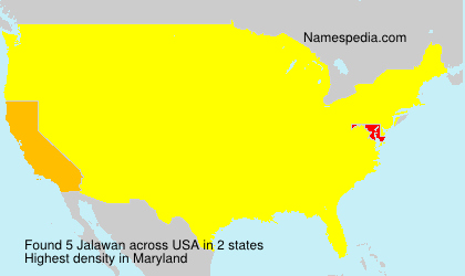 Surname Jalawan in USA