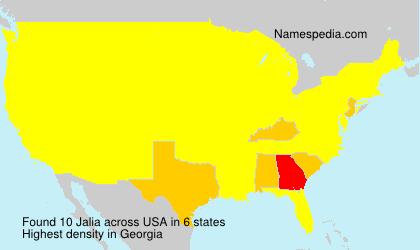 Surname Jalia in USA