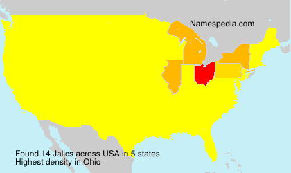 Surname Jalics in USA