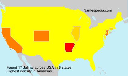Familiennamen Jalihal - USA