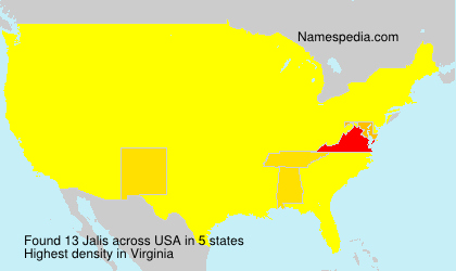 Surname Jalis in USA