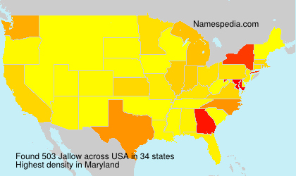 Surname Jallow in USA