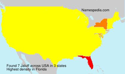 Familiennamen Jaluff - USA