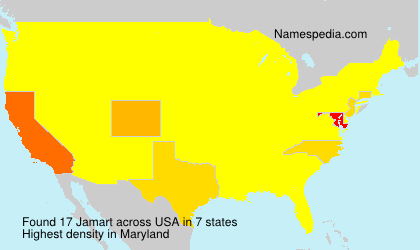 Surname Jamart in USA