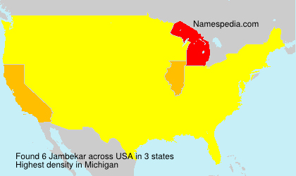 Surname Jambekar in USA