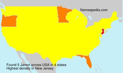 Surname Jamot in USA