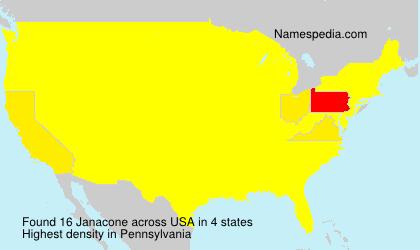 Surname Janacone in USA