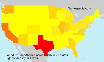 Surname Janarthanan in USA