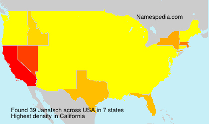 Surname Janatsch in USA
