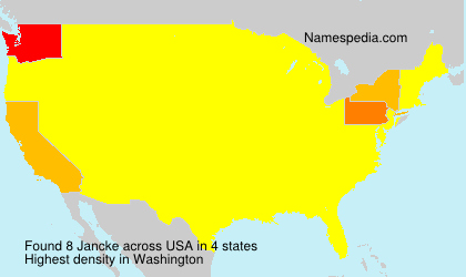 Surname Jancke in USA