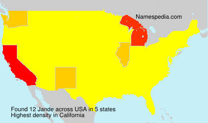 Surname Jande in USA