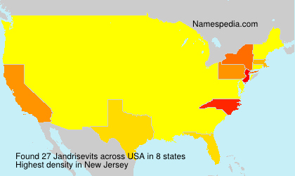 Surname Jandrisevits in USA
