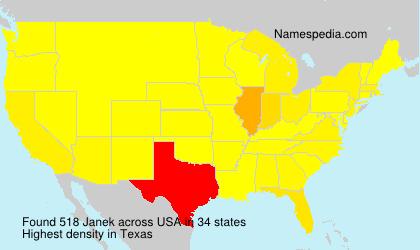 Surname Janek in USA