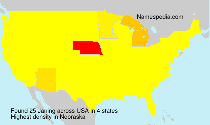Surname Janing in USA
