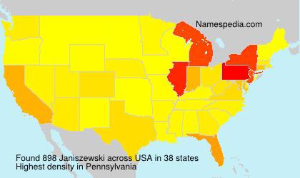 Surname Janiszewski in USA