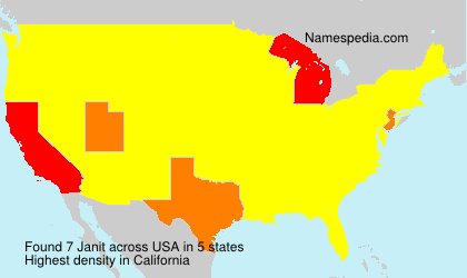 Surname Janit in USA
