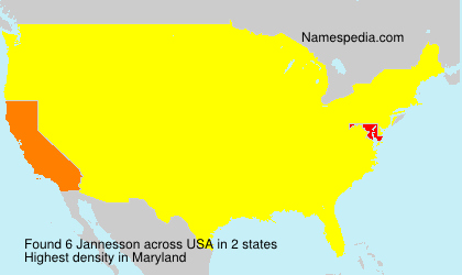 Surname Jannesson in USA
