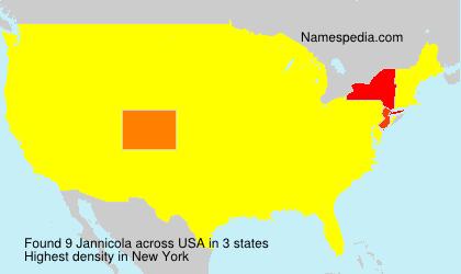 Surname Jannicola in USA
