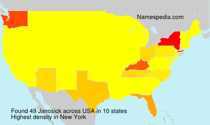 Surname Janosick in USA