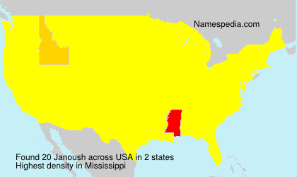 Surname Janoush in USA