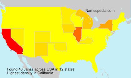 Familiennamen Jansz - USA