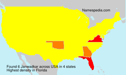 Surname Janwadkar in USA