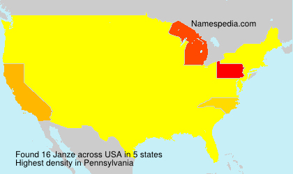 Surname Janze in USA