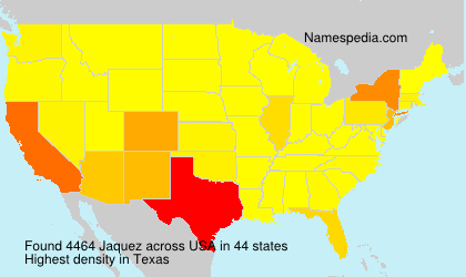 Surname Jaquez in USA