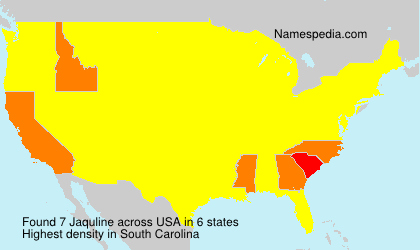 Surname Jaquline in USA