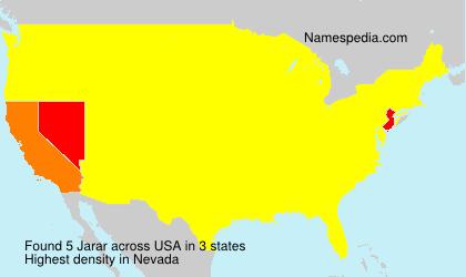 Surname Jarar in USA