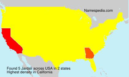 Surname Jardali in USA