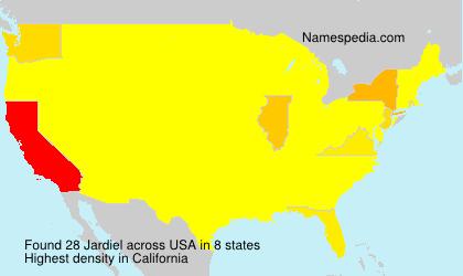 Surname Jardiel in USA