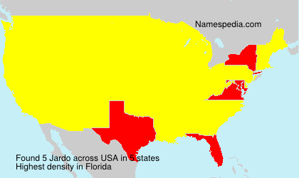 Familiennamen Jardo - USA