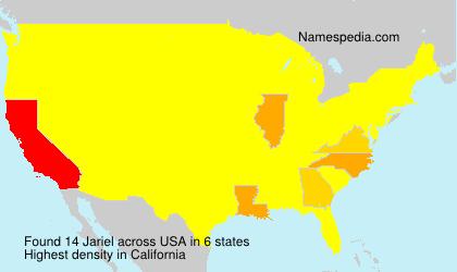 Familiennamen Jariel - USA
