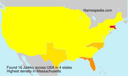 Surname Jarkko in USA