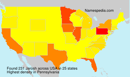 Familiennamen Jarosh - USA