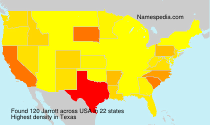 Surname Jarrott in USA