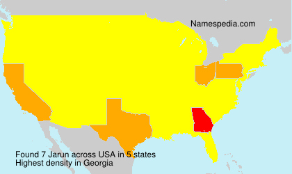 Surname Jarun in USA