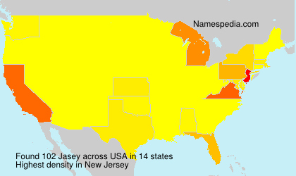 Surname Jasey in USA
